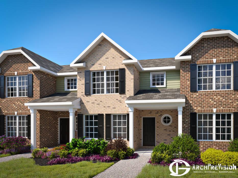 3DArchPreVisionが手掛けた二世帯住宅, コロニアル エンジニアリングウッド 透明