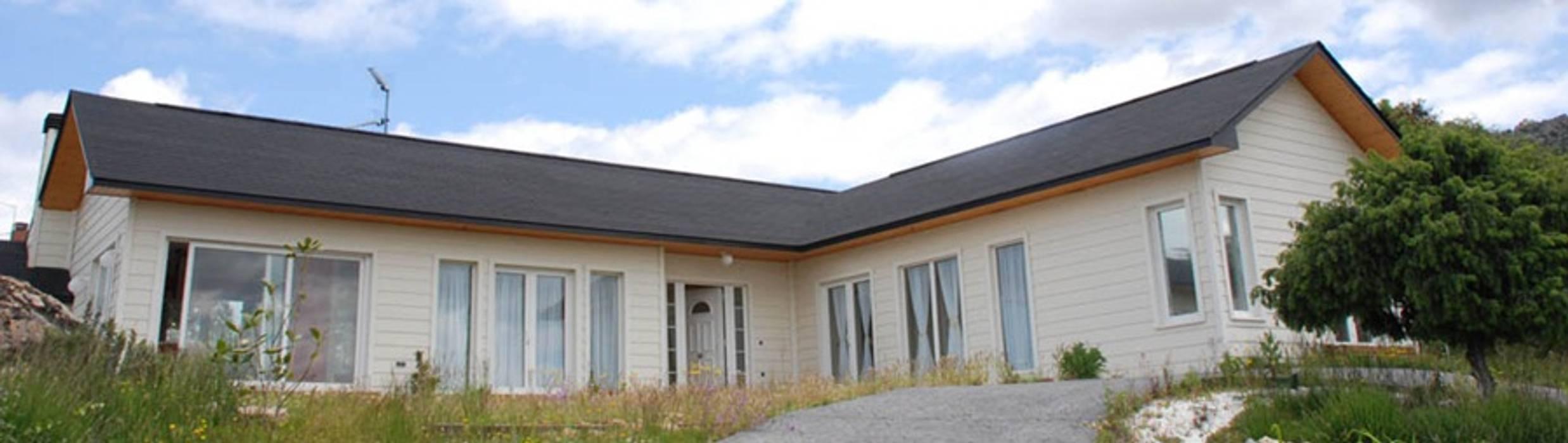 casas prefabricadas de diseño de casasfrau Clásico Madera Acabado en madera