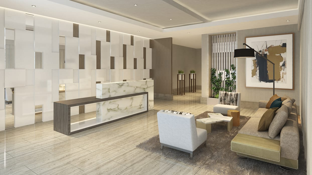 Lobby Principal K'ANKA Salones de estilo moderno