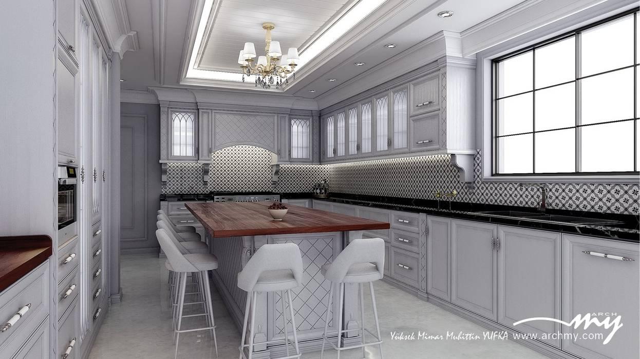 ARCHMY Mimarlık – Modern Klasik Mutfak:  tarz Mutfak