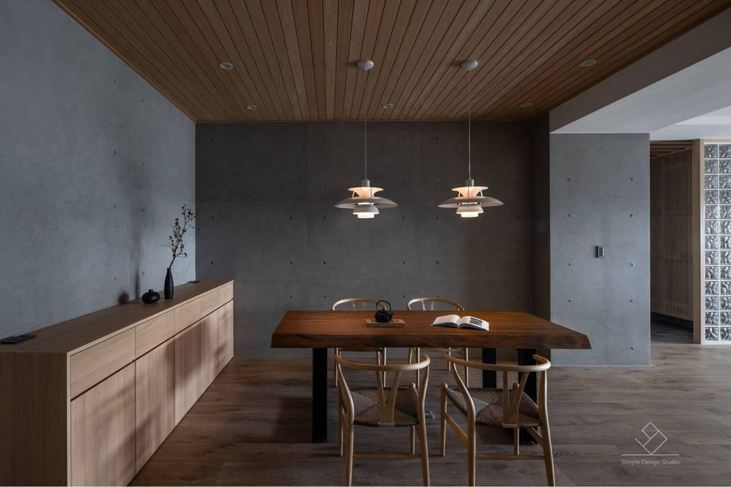 餐廳 極簡室內設計 Simple Design Studio Asian style dining room Wood effect