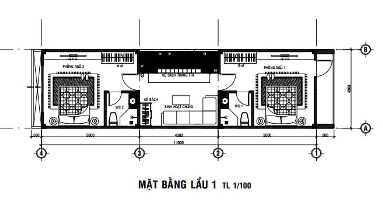 Bản Vẽ Thiết Kế Nhà Phố 2 Tầng Theo Cách Bố Trí Mới 2019 bởi Công ty Thiết Kế Xây Dựng Song Phát Hiện đại