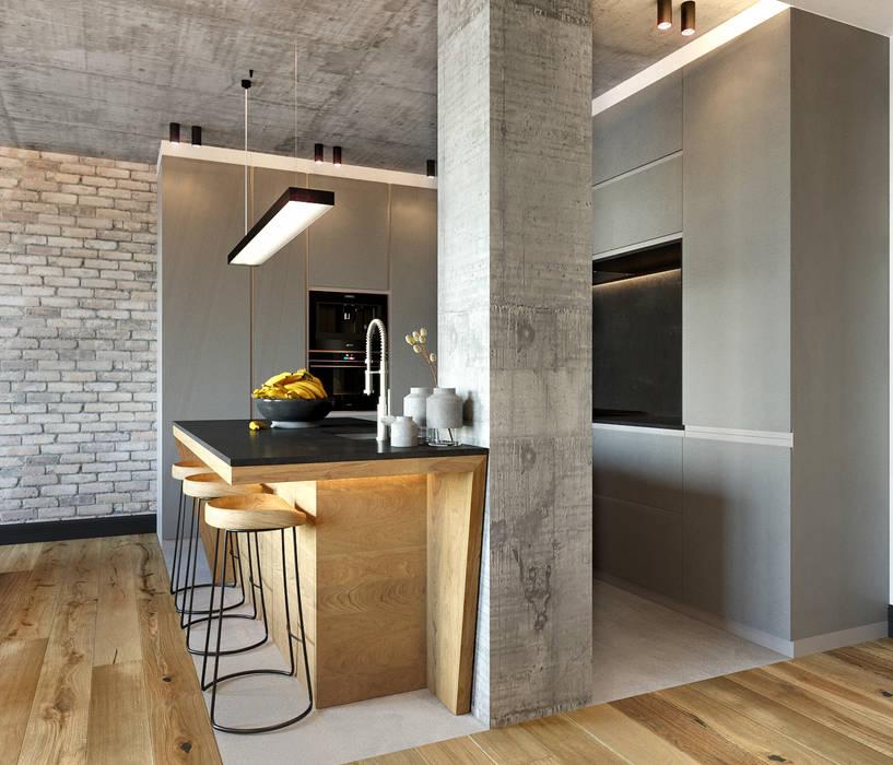 Современный лофт: Кухни в . Автор – ATM interior