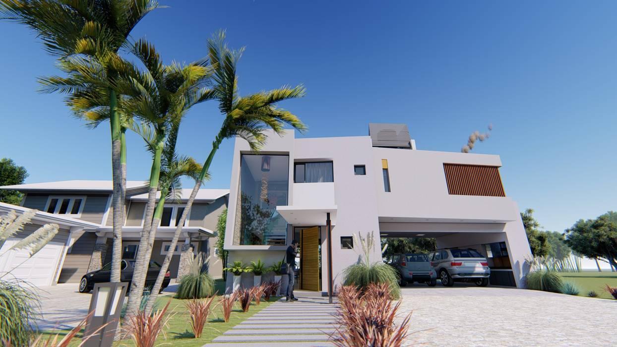Fachada 3: Casas de estilo  por Módulo 3 arquitectura