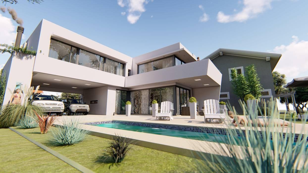 Contra Frente 2: Casas de estilo  por Módulo 3 arquitectura