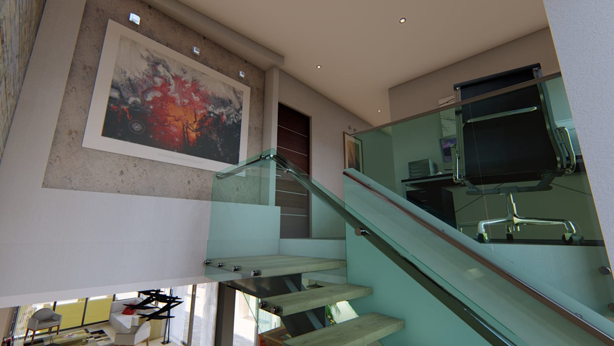 Casa JG: Escaleras de estilo  por Módulo 3 arquitectura