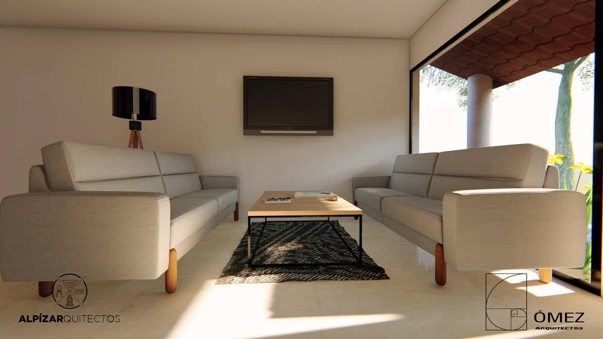 اتاق نشیمن توسطGóMEZ arquitectos, راستیک (روستایی)