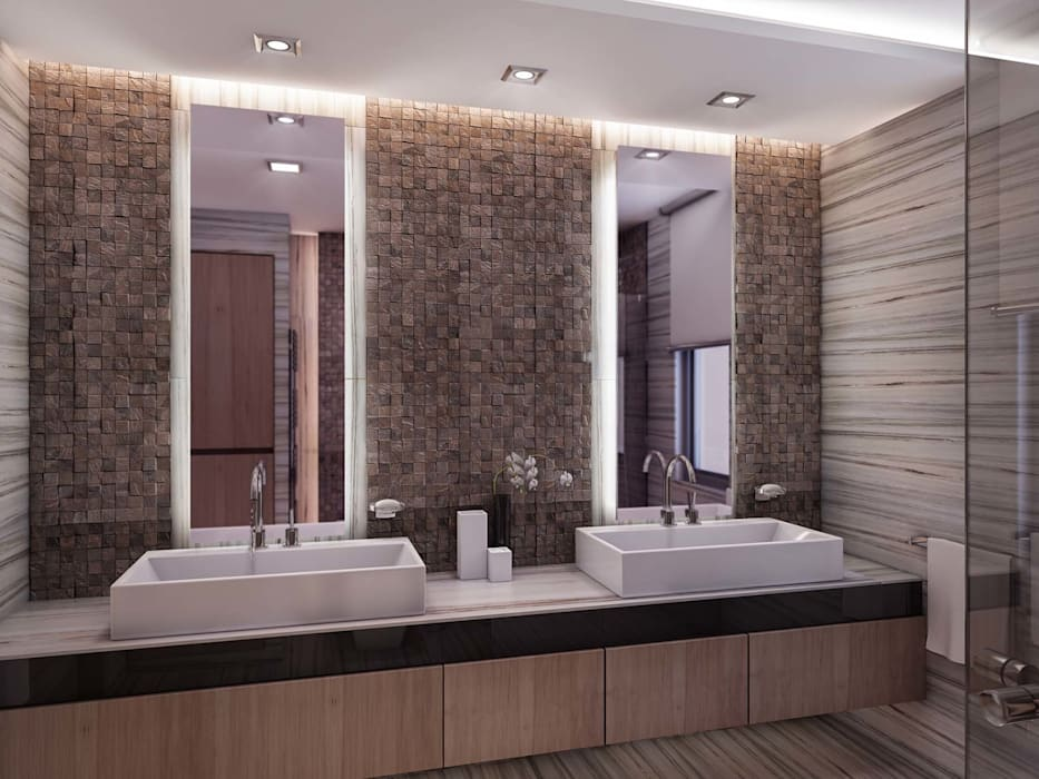 Banyo tasarımı Modern Banyo ANTE MİMARLIK Modern