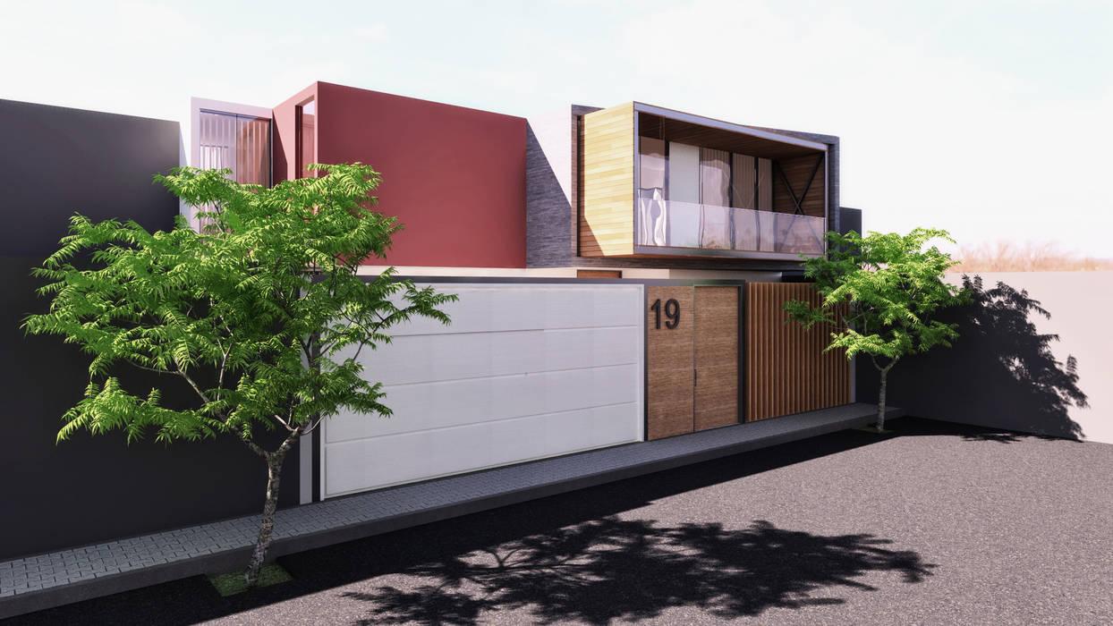 Case moderne di TECTONICA STUDIO SAC Moderno