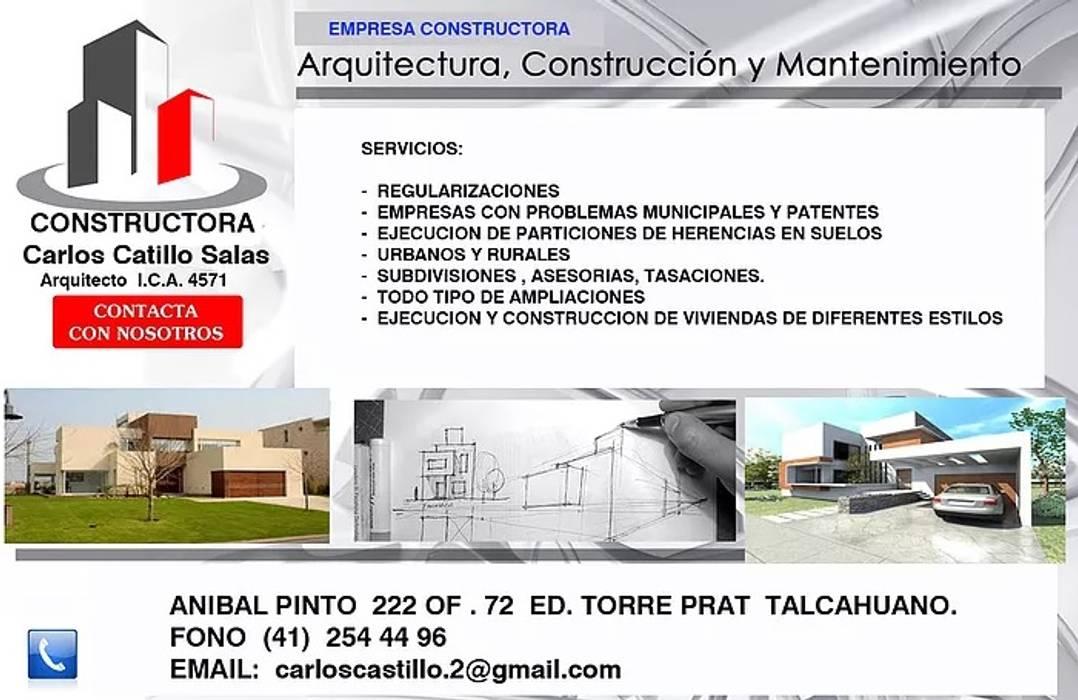 Arquitectura, Construccion y Mantencion. SERVICIOS de Carlos Castillo Salas ARQUITECTO Moderno