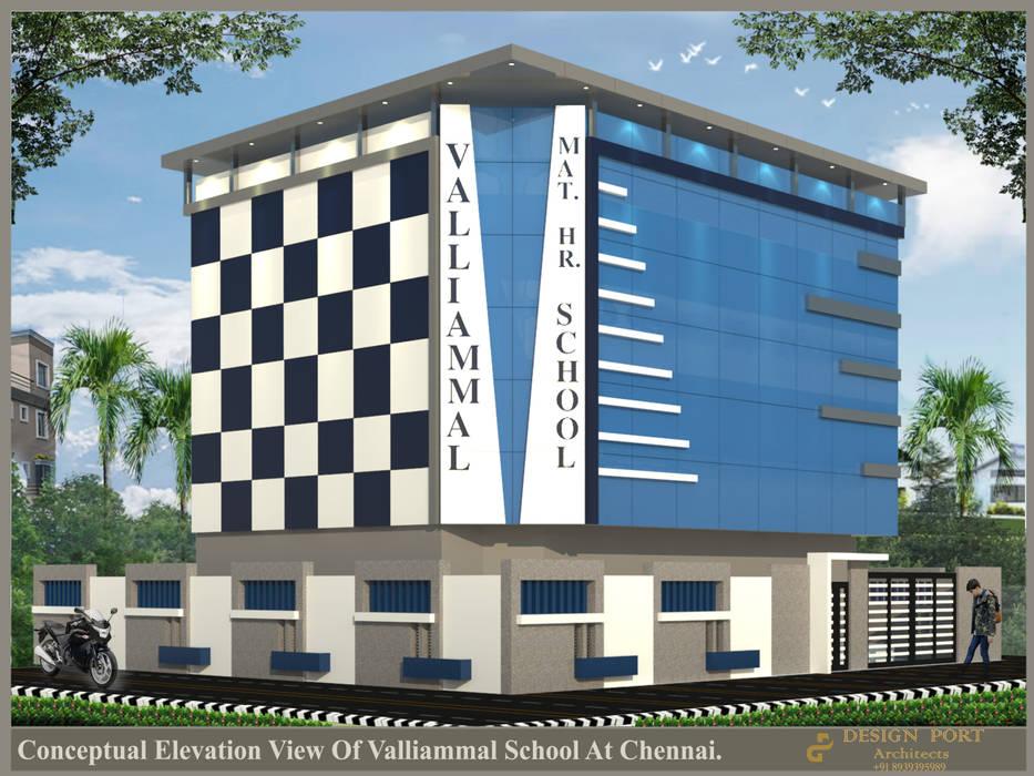 Valliammal School :  Prefabricated home by Design port,