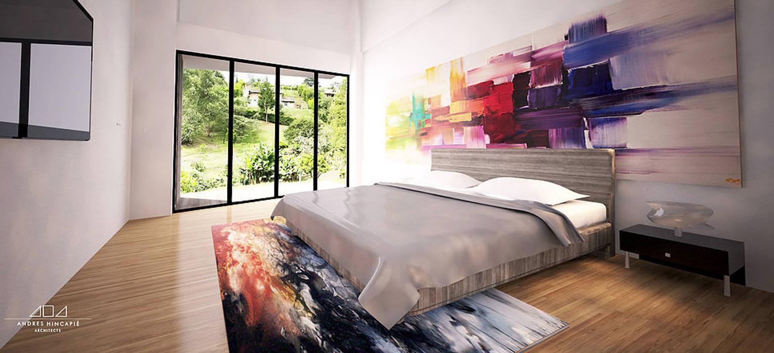 Small bedroom by Andrés Hincapíe Arquitectos  A H A,