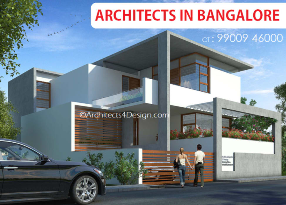A4 Architects in Bangalore Ct 9900946000 by A4 ARCHITECTS IN BANGALORE Modern
