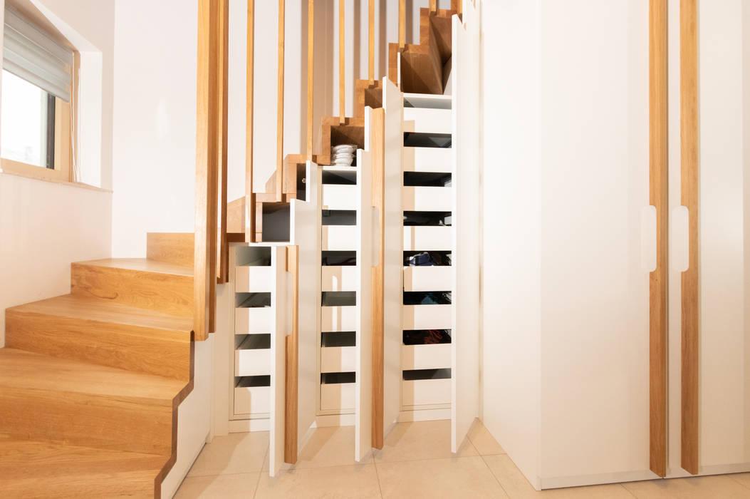 Faltwerktreppe Mit Integriertem Schrank Treppe Von Holzmanufaktur