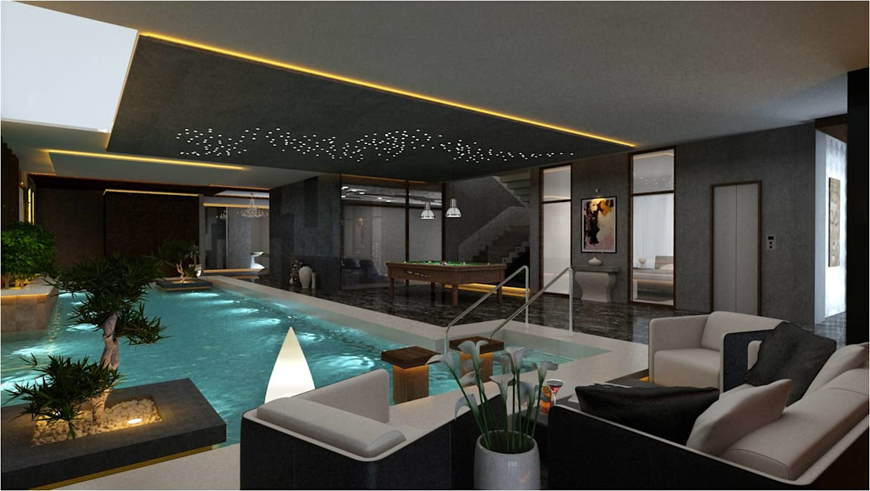 high end private residence project Modern pool by Vinyaasa Architecture & Design Modern