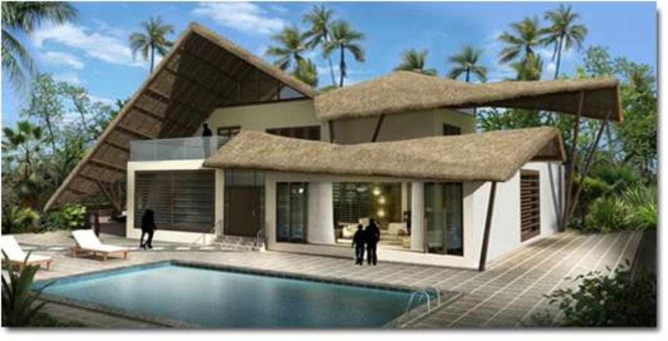 farm house Tropical style pool by Vinyaasa Architecture & Design Tropical