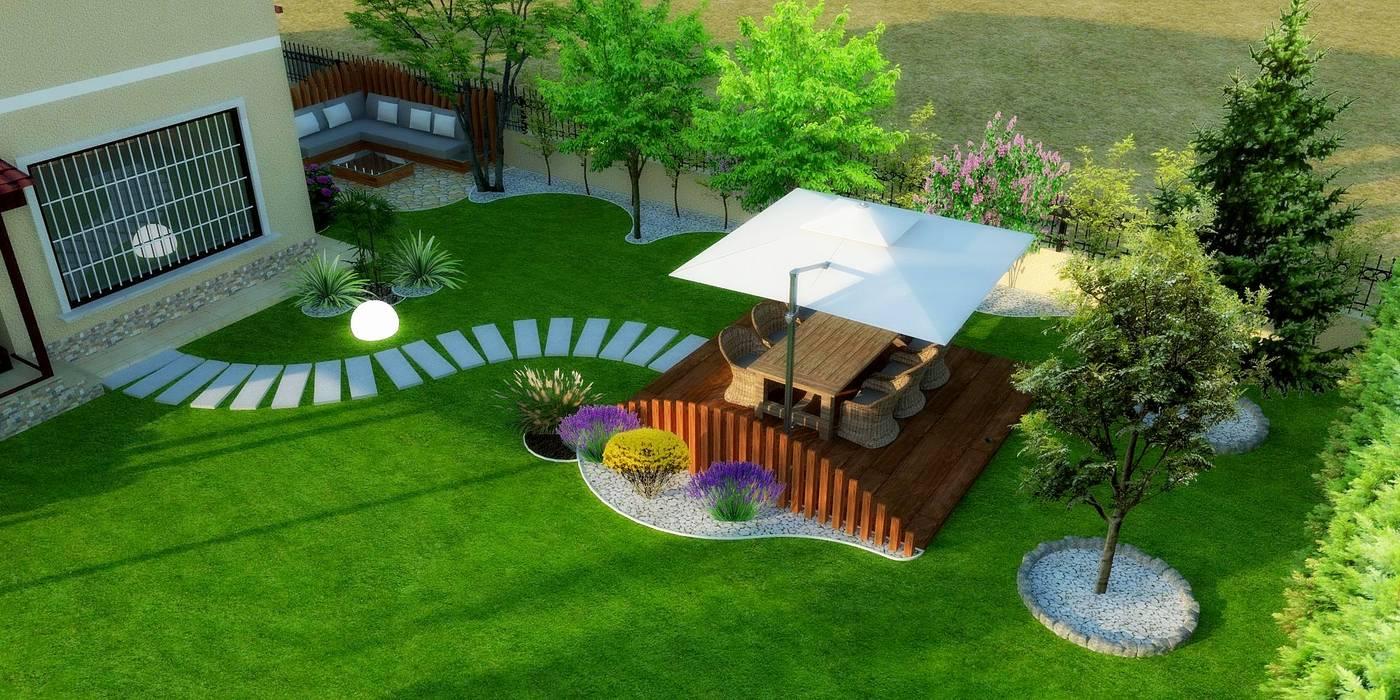 Peyzaj Projesi - Çanakkale/Güzelyalı Modern Bahçe Mimari 3D Render Modern