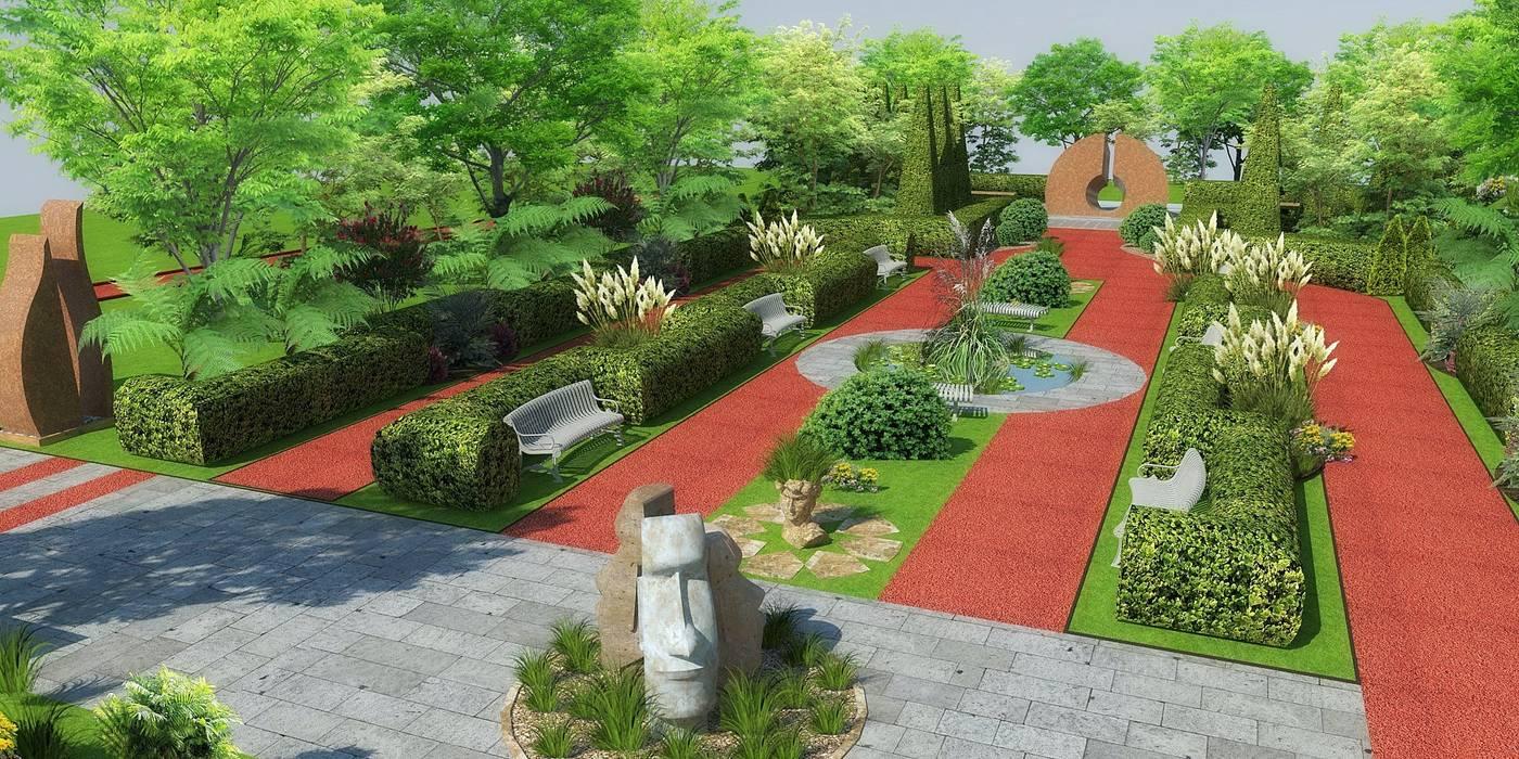 Porto Caeli Bağcılık ve Otel Peyzaj Öneri Projesi -Çanakkale/Gelibolu Tropikal Bahçe Mimari 3D Render Tropikal