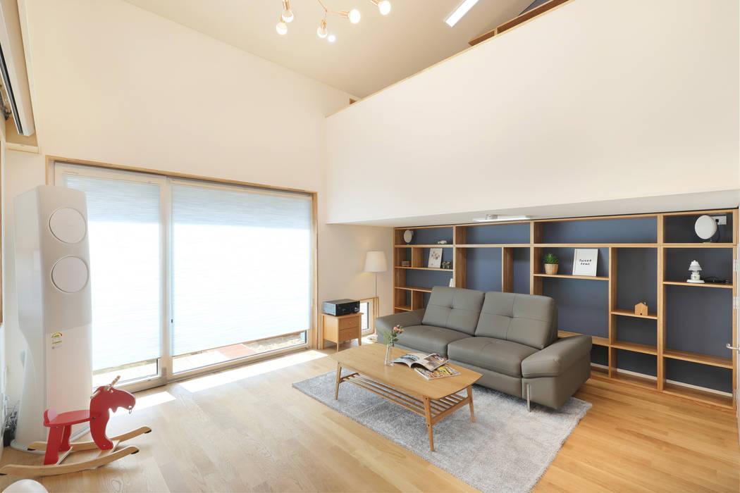Wohnzimmer von 주택설계전문 디자인그룹 홈스타일토토, Modern Holz Holznachbildung