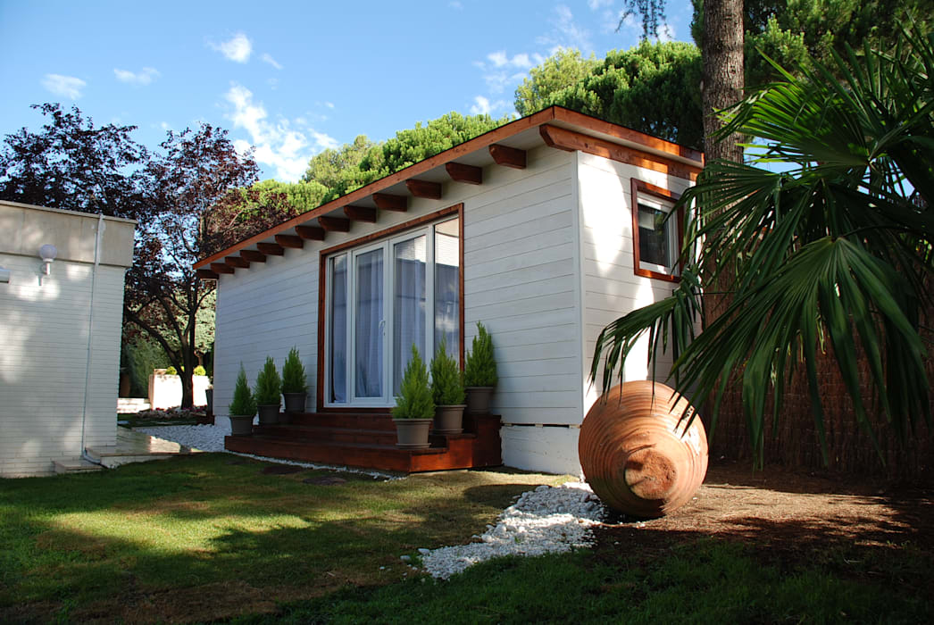 Exterior casa de madera habitable de Construcción de casetas de Madera en Madrid Clásico