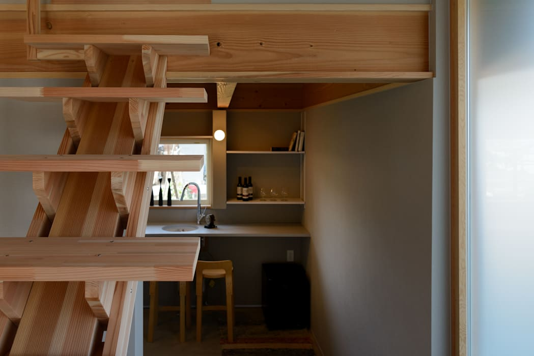 Asian style wine cellar by 風景のある家.LLC Asian Wood Wood effect