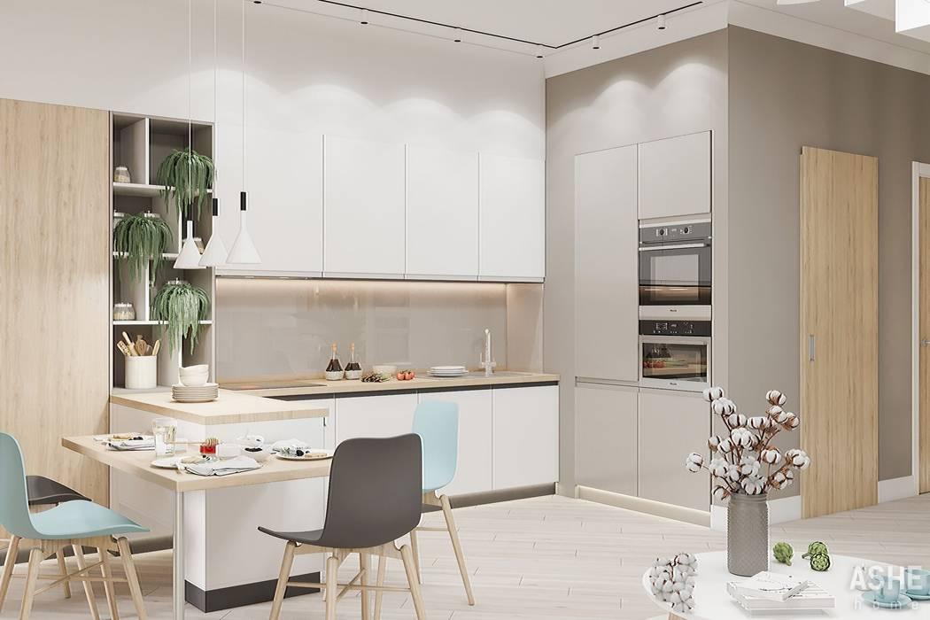 Интерьер таунхаса в Уфе: Кухни в . Автор – Студия авторского дизайна ASHE Home