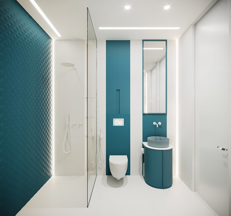 Проект АПАРТАМЕНТЫ SKY от бюро Suite n.7 : Ванные комнаты в . Автор – Suiten7