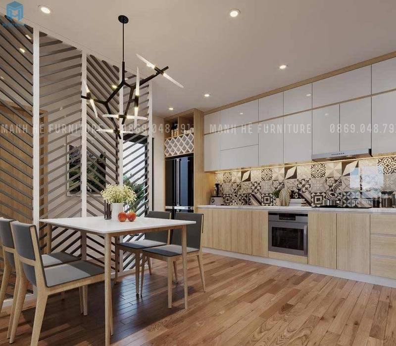 Không gian phòng bếp:  Phòng ăn by Công ty TNHH Nội Thất Mạnh Hệ