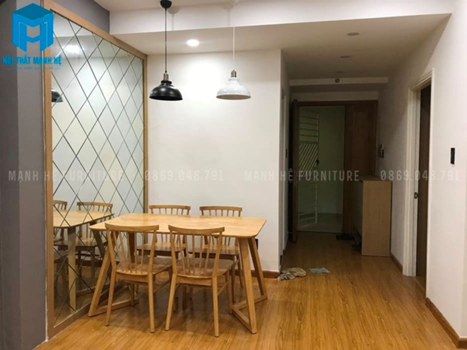 không gian bếp (hình ảnh thực tế) Nhà bếp phong cách hiện đại bởi Công ty TNHH Nội Thất Mạnh Hệ Hiện đại