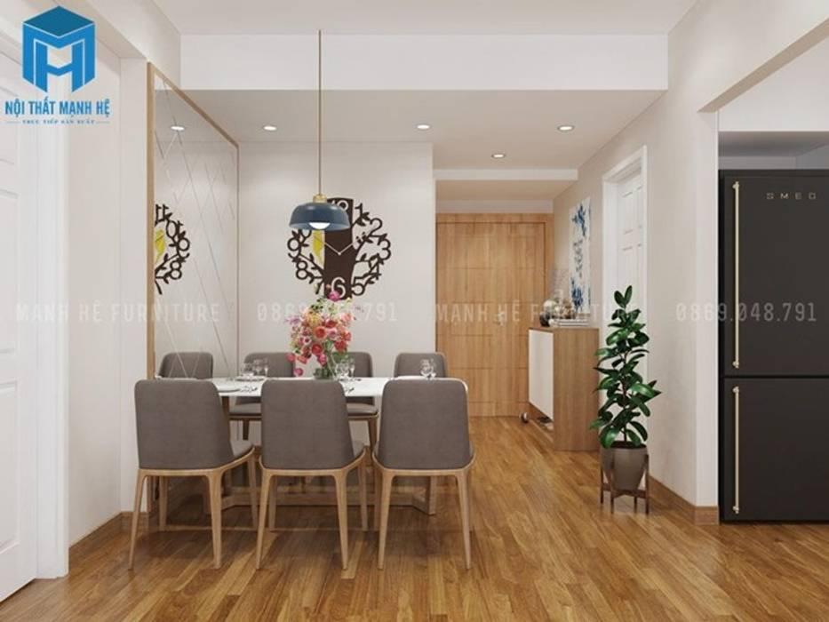 Nội thất phòng khách được chụp ở một góc độ khác Phòng ăn phong cách hiện đại bởi Công ty TNHH Nội Thất Mạnh Hệ Hiện đại