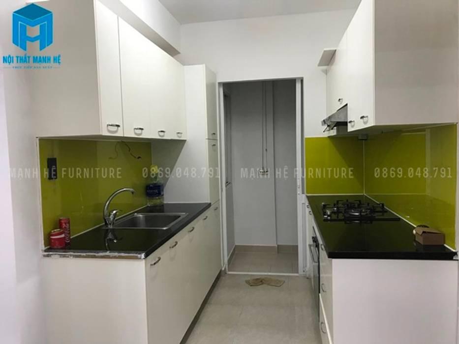 Không gian bên trong phòng bếp (hình ảnh thực tế) Nhà bếp phong cách hiện đại bởi Công ty TNHH Nội Thất Mạnh Hệ Hiện đại