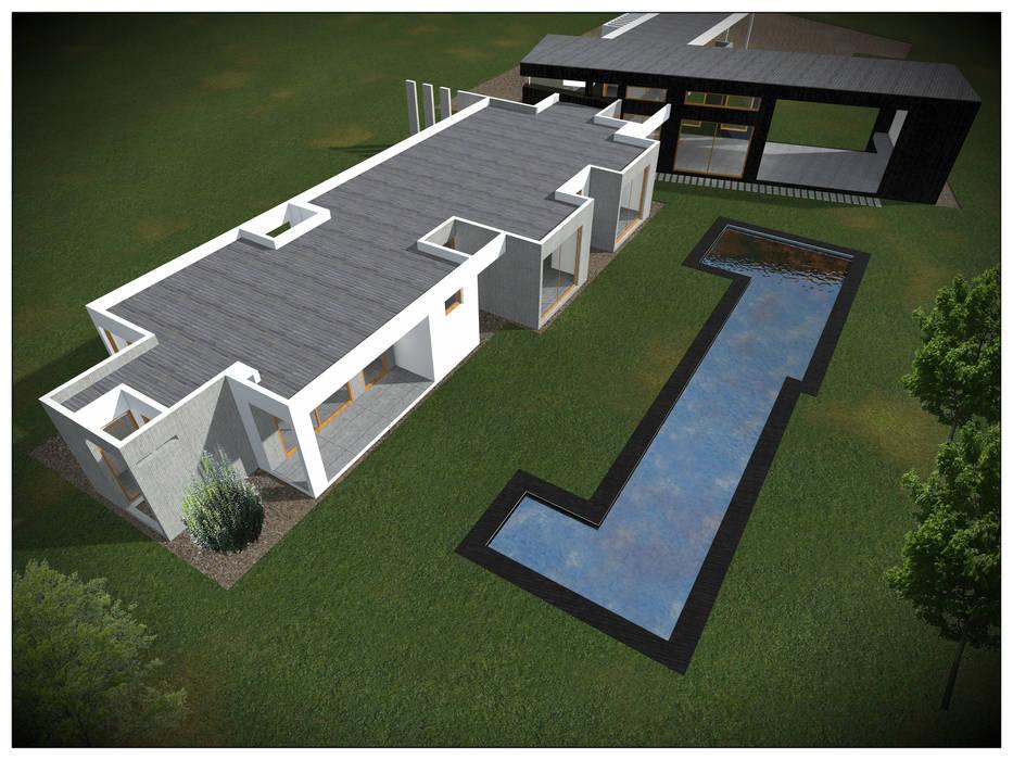 VIVIENDA RURAL CONTEMPORÁNEA PANEL SIP: Casas unifamiliares de estilo  por Vicente Espinoza M. - Arquitecto ,