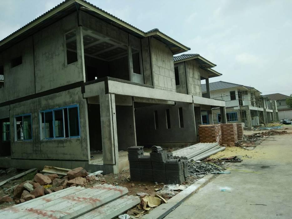รับสร้างบ้าน:  บ้านสำหรับครอบครัว by บริษัท พีแอนด์พี วิศวการโยธา จำกัด