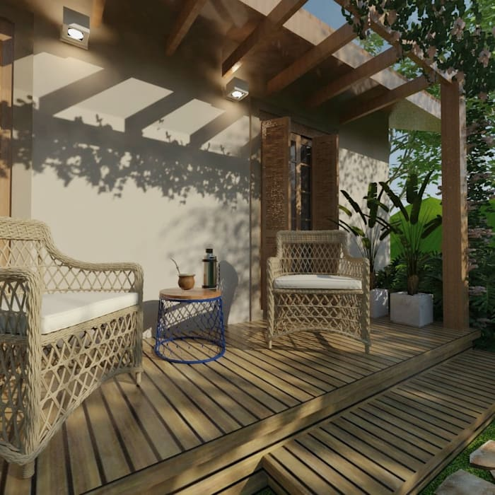 Terrace by Cíntia Schirmer | arquiteta e urbanista,