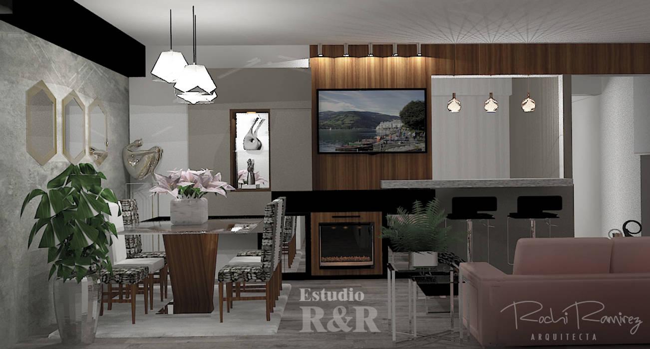Comedor y barra Comedores de estilo moderno de Estudio R&R Moderno