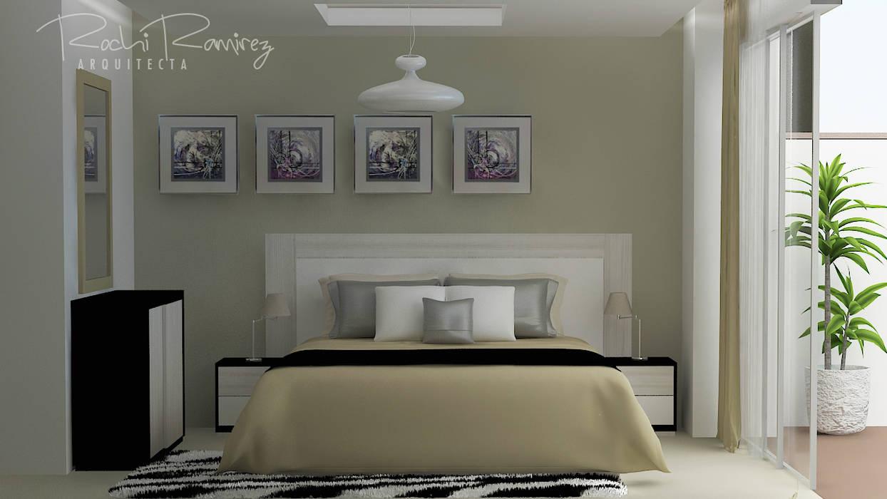 DISEÑO DE HABITACIÓN OPCION 1: Dormitorios de estilo  por Estudio R&R