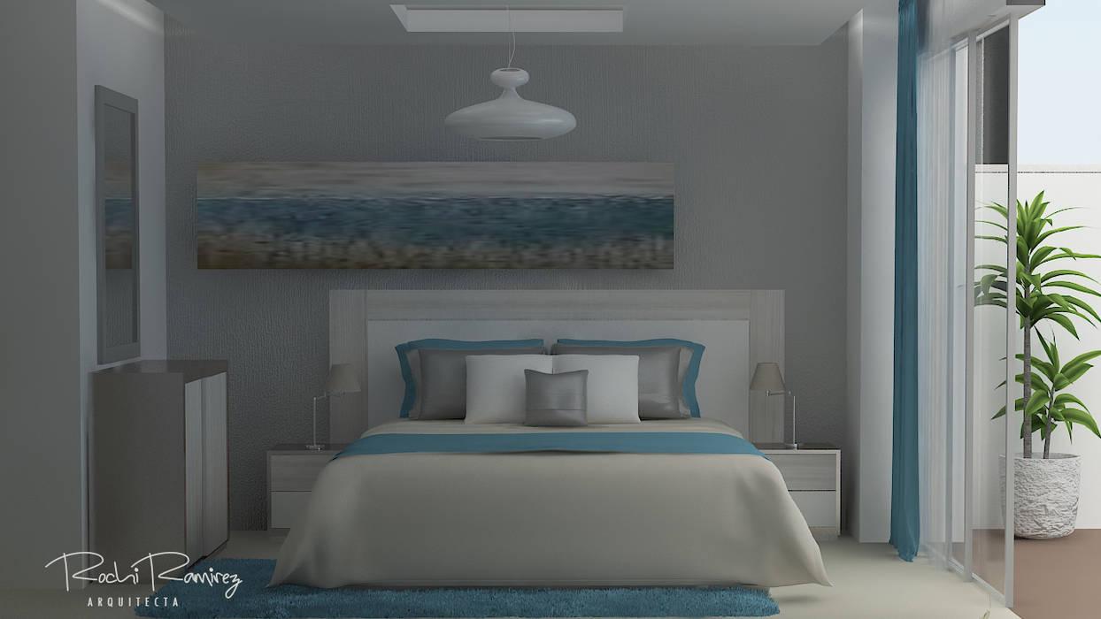DISEÑO DE HABITACIÓN OPCION 2: Dormitorios de estilo  por Estudio R&R