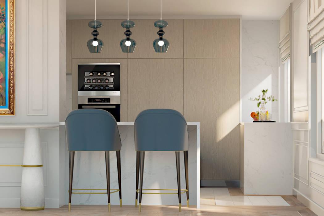 Pequeno, grande apartamento Estoril por Inêz Fino Interiors, LDA Eclético Mármore