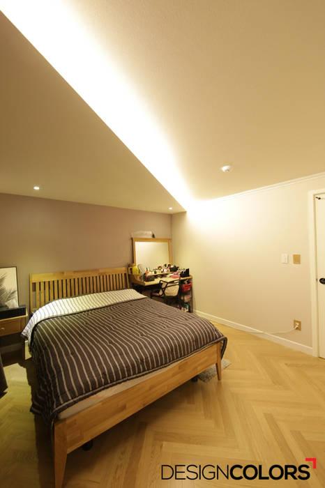 분당구 정자동 상록우성 아파트인테리어 31평 모던스타일 침실 by DESIGNCOLORS 모던