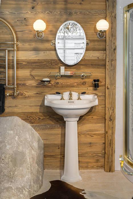 Waschtisch im chalet stil badezimmer im landhausstil von ...