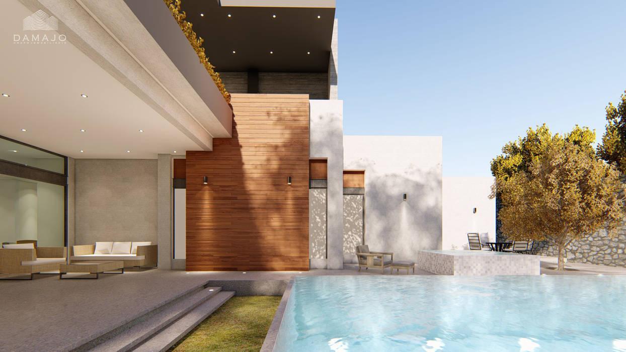 Piscinas de jardín de estilo  por DAMAJO Grupo Inmobiliario, Industrial Concreto