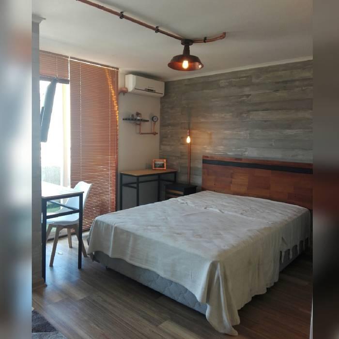 Depto Teatinos Indesoul Dormitorios de estilo industrial