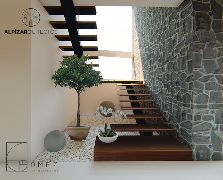 panoramico: Escaleras de estilo  por GóMEZ arquitectos