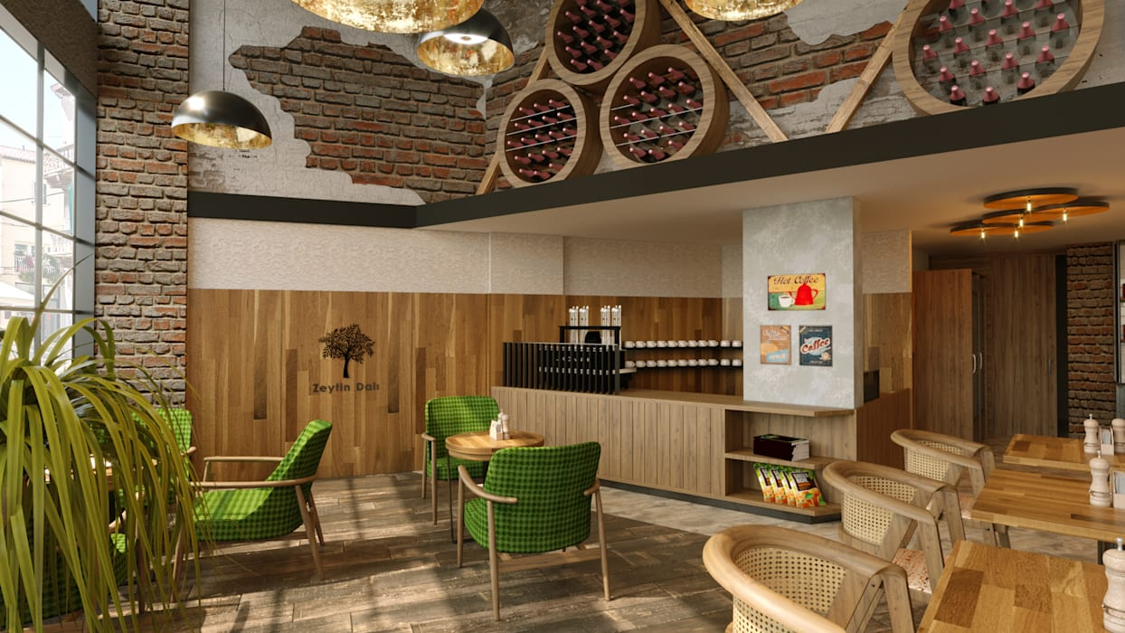 Country style wine cellar by Dem Dizayn Country Wood Wood effect