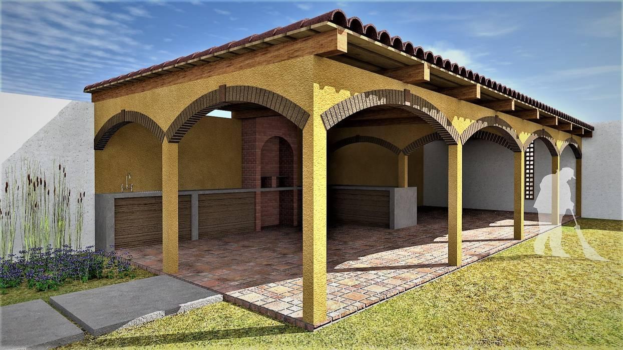 Terraza Para Eventos Casas Rústicas De Argal Arquitectura