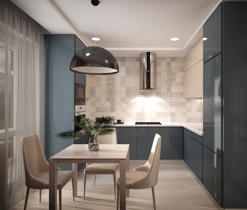 "Двухкомнатная квартир в ЖК ""Митино О2"": Кухни в . Автор – дизайн-бюро ARTTUNDRA"