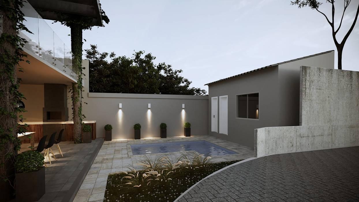 Asian style pool by Gelker Ribeiro Arquitetura | Arquiteto Rio de Janeiro Asian