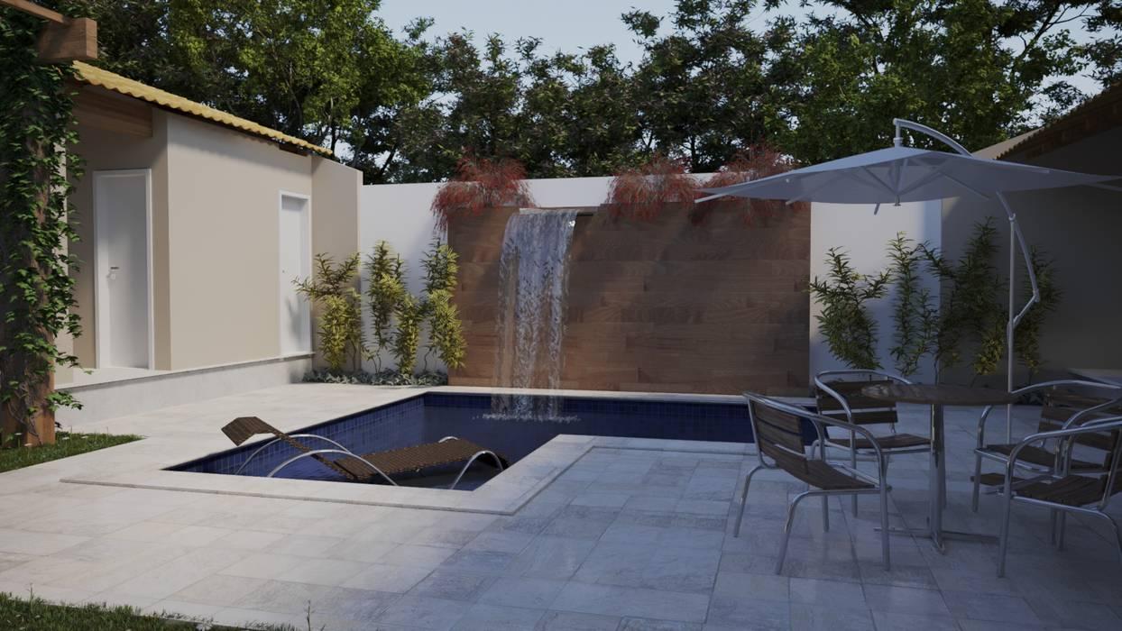Projeto Casa LE |(Casa de praia Cabo-Frio - RJ: Piscinas de jardim  por Gelker Ribeiro Arquitetura