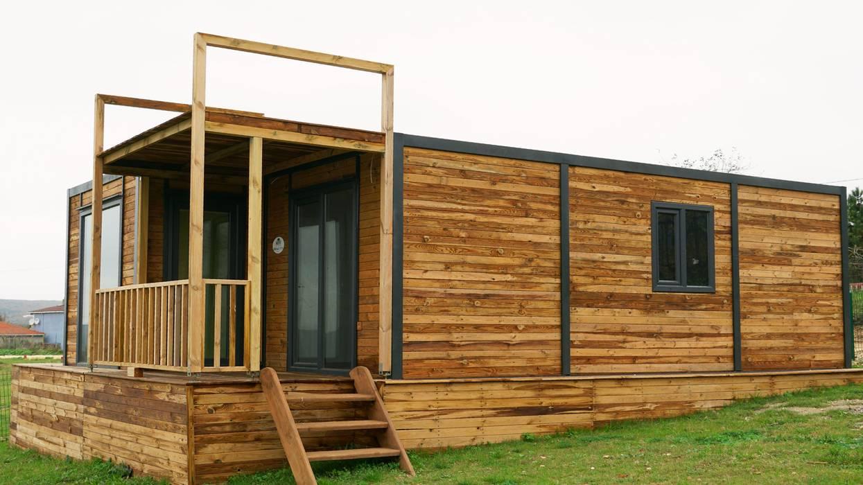 من MOVİ evleri بلدي خشب Wood effect
