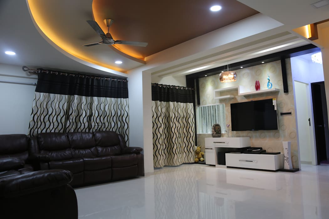 :  Living room by Vdezin Interiors